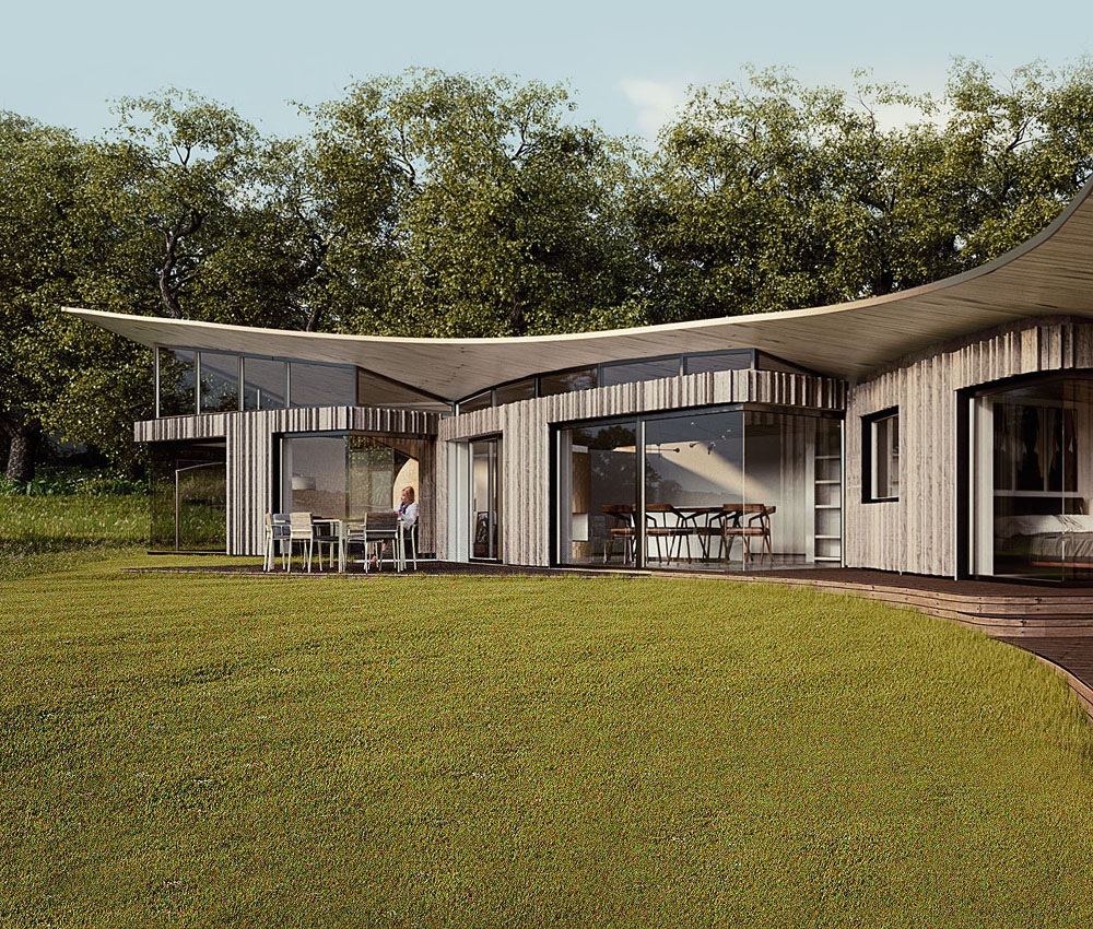 Ashdown Forest. A sustainable eco-friendly, Para 79 passivhaus designed by Hawkes Architecture.