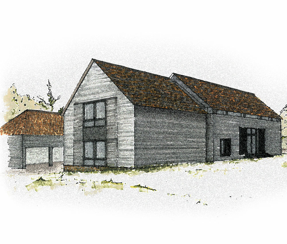 Bells Yew Barn. A sustainable, energy efficient family home designed and remodelled by Hawkes Architecture.