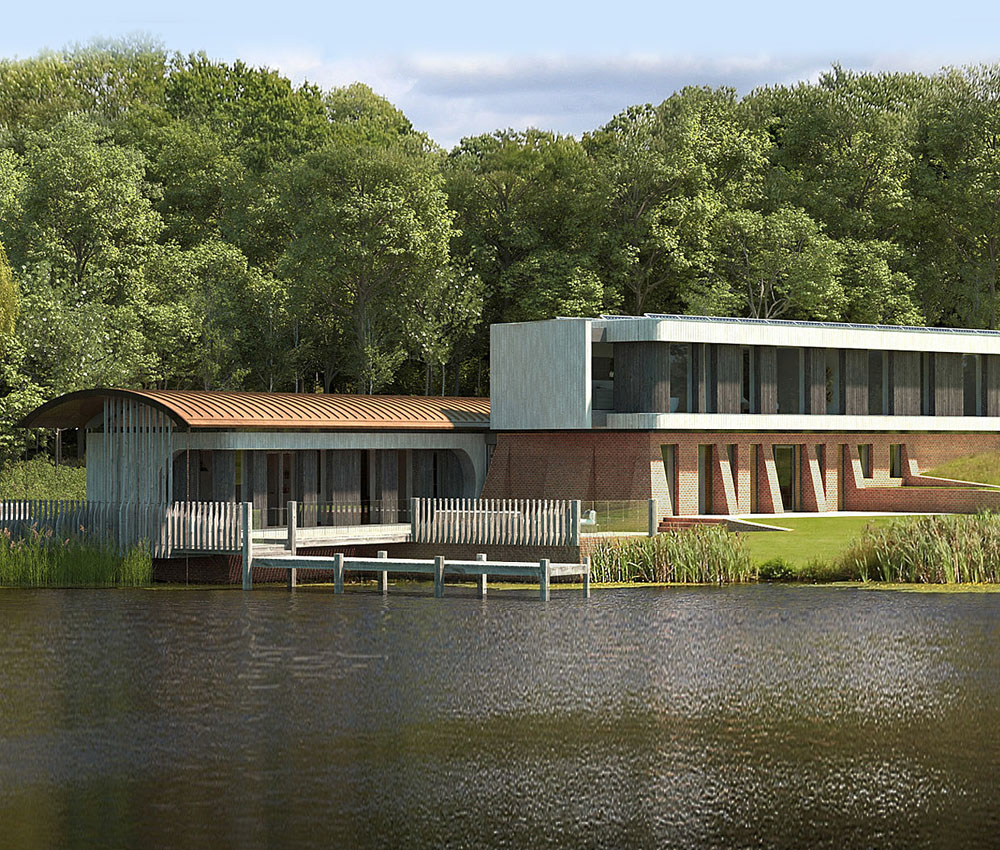 Lake House. A sustainable eco-friendly, Para 79 passivhaus designed by Hawkes Architecture.