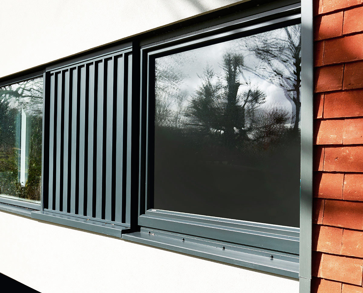 Window detailing at Meadow View (PPS 7). Designed by Hawkes Architecture, this energy efficient grand design, follows passive house principles.