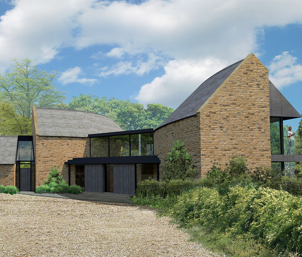 Spinneys. A sustainable eco-friendly, Para 55 passivhaus designed by Hawkes Architecture.