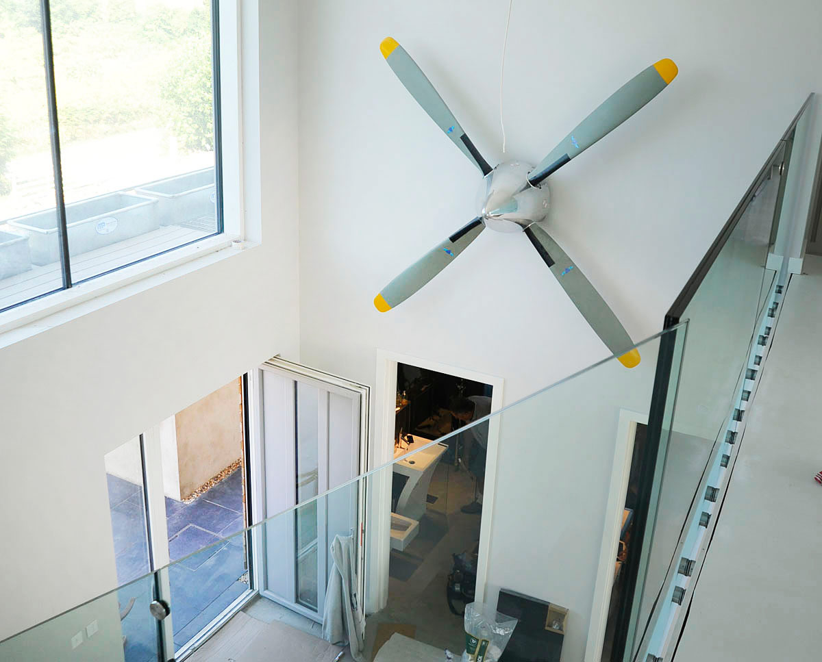 Entrance hall at Wings (PPS 7). Designed by Hawkes Architecture, this energy efficient grand design, follows passive house principles.