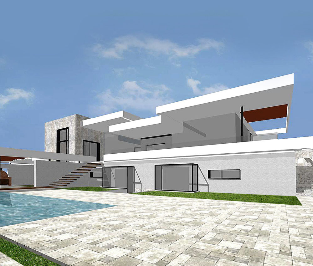 Xabia is a sustainable Spanish villa, designed by Hawkes Architecture.