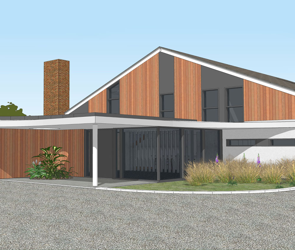 Bellropes. A sustainable energy efficient family home, remodelled by Hawkes Architecture.