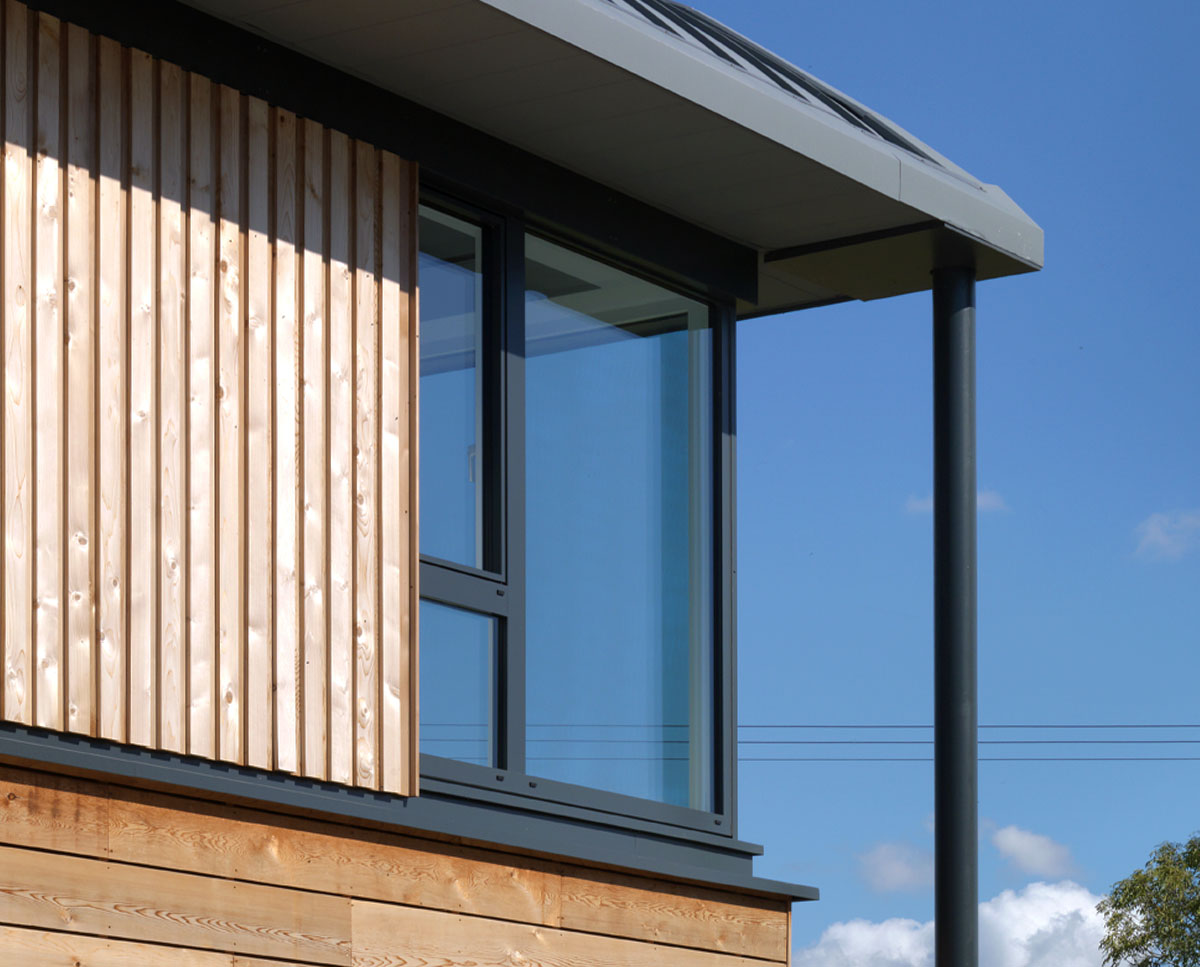 Build detail of Halfpenny House (Para 55). Designed by Hawkes Architecture, this energy efficient grand design, follows passive house principles.
