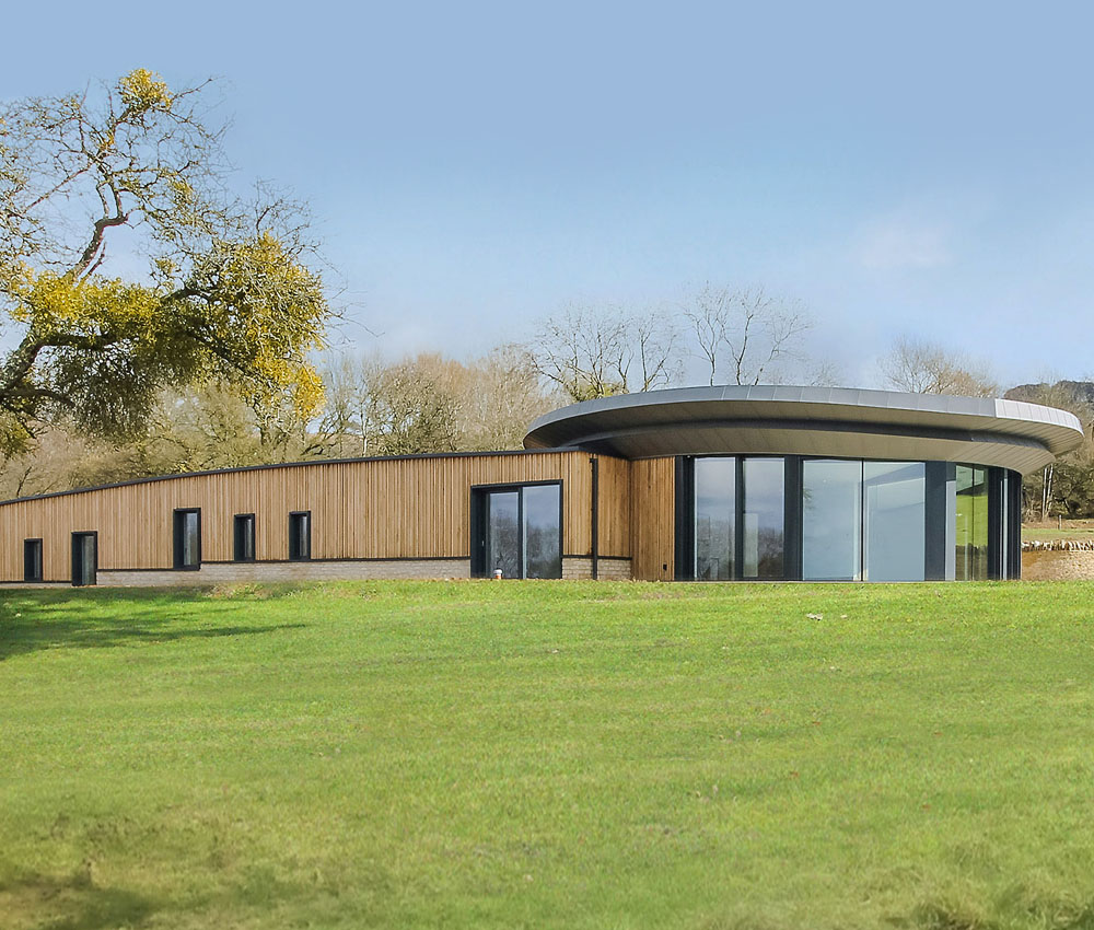 Headlands (Para 55). Designed by Hawkes Architecture, this energy efficient grand design, follows passive house principles.