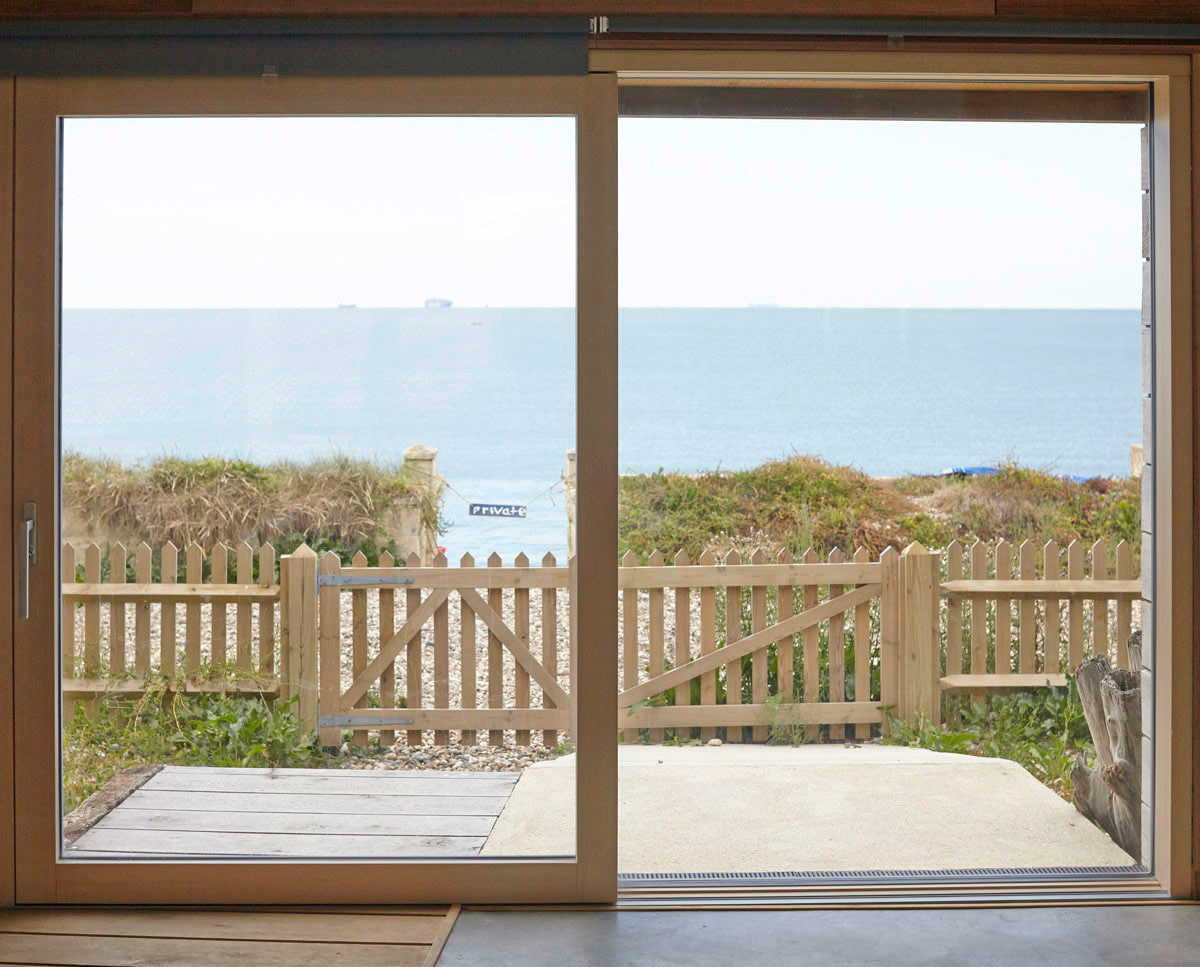 The view at West Wittering, an eco-friendly replacement dwelling built in Chichester. Designed by Hawkes Architecture.