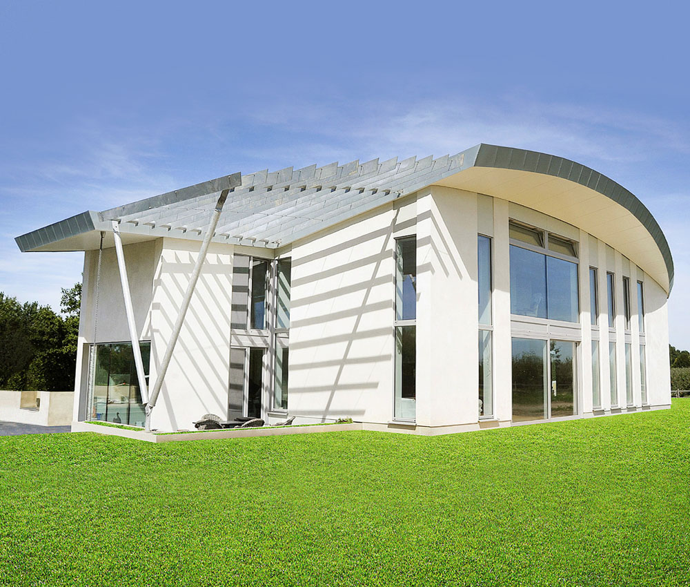 Wings (PPS 7). Designed by Hawkes Architecture, this energy efficient grand design, follows passive house principles.