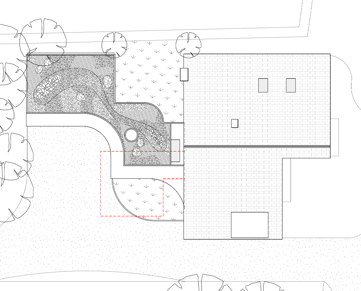 Plan drawing of Bellropes. A sustainable energy efficient family home, remodelled by Hawkes Architecture.