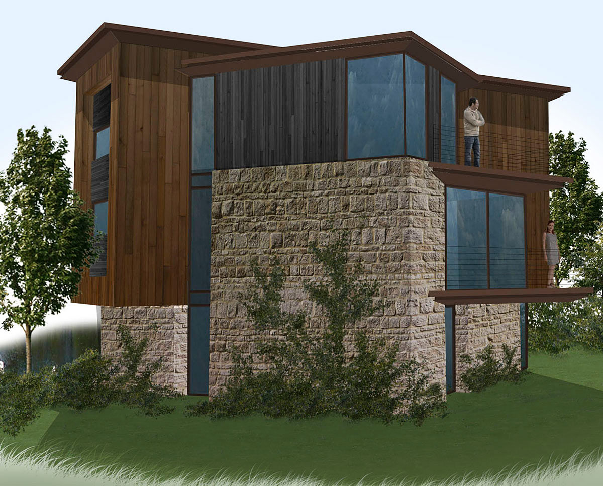 Homes at Fairford Eco Lakes. A sustainable commercial development, designed by Hawkes Architecture.