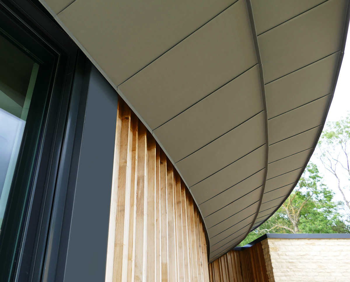 Architectural detail at Headlands (Para 55). Designed by Hawkes Architecture, this energy efficient grand design, follows passive house principles.