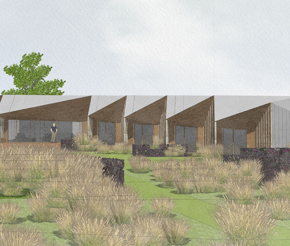 Rural Faversham (Para 79). Designed by Hawkes Architecture, this energy efficient grand design, follows passive house principles.