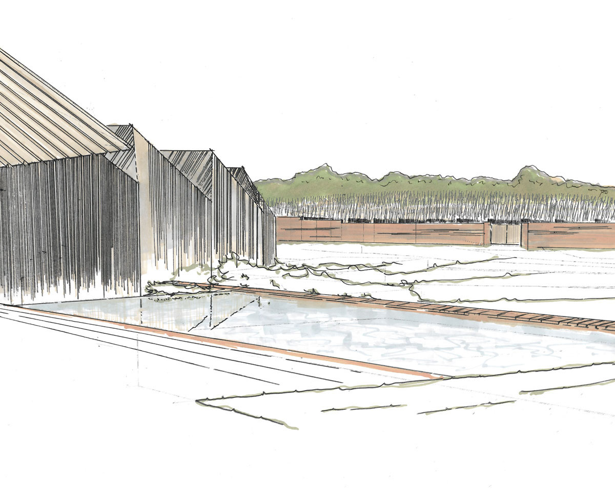 Early ideas for Rural Faversham (Para 79). Designed by Hawkes Architecture, this energy efficient grand design, follows passive house principles.