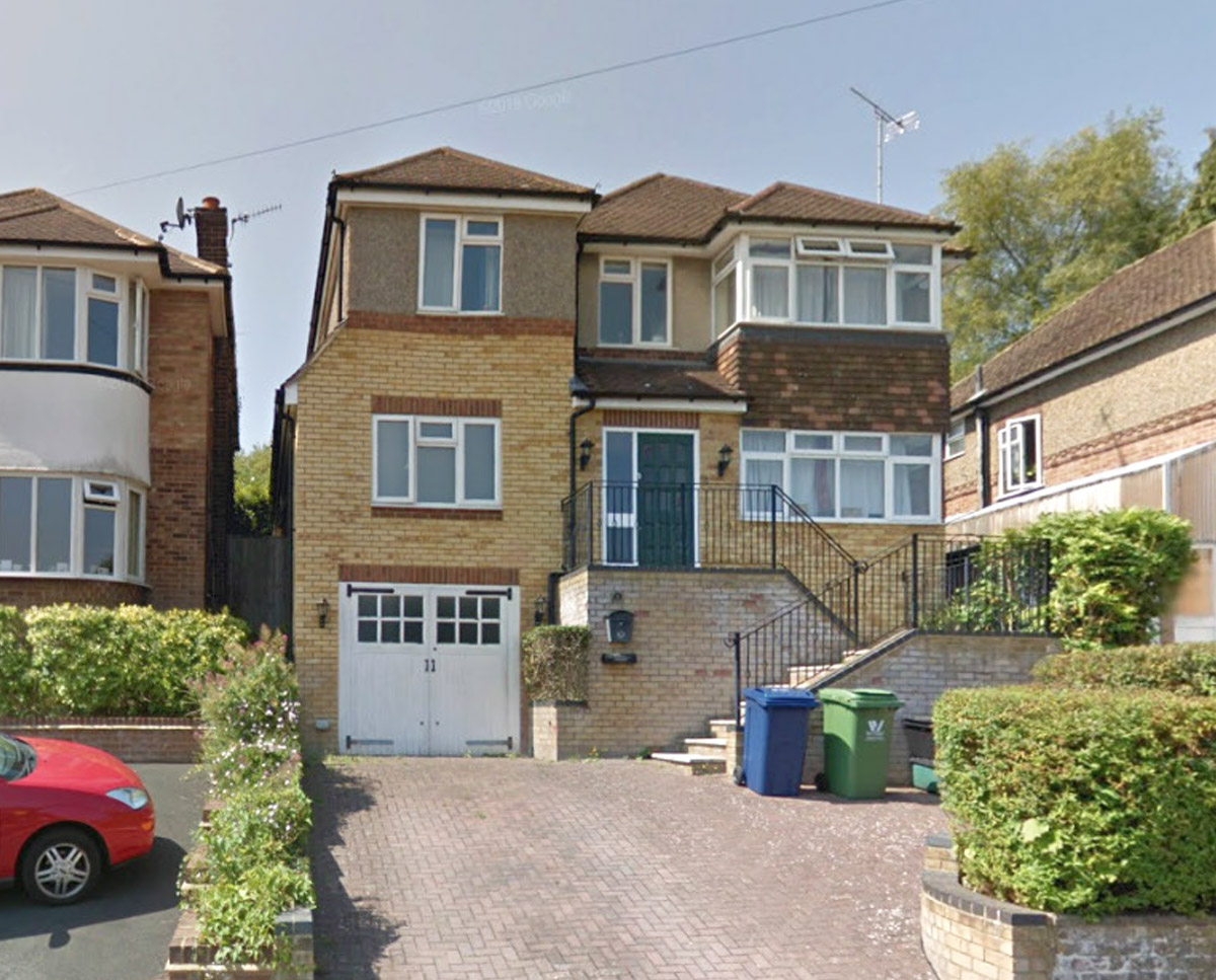 Existing property at High Wycombe (Remodelled home). Designed by Hawkes Architecture.