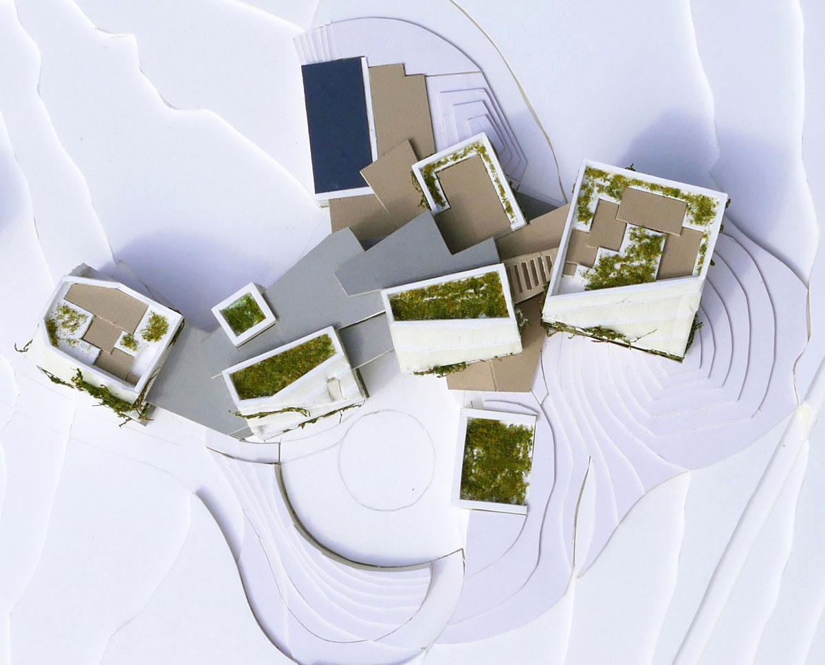 Model of Chalk Pit (Para 80). Designed by Hawkes Architecture, this energy efficient grand design, follows passive house principles.