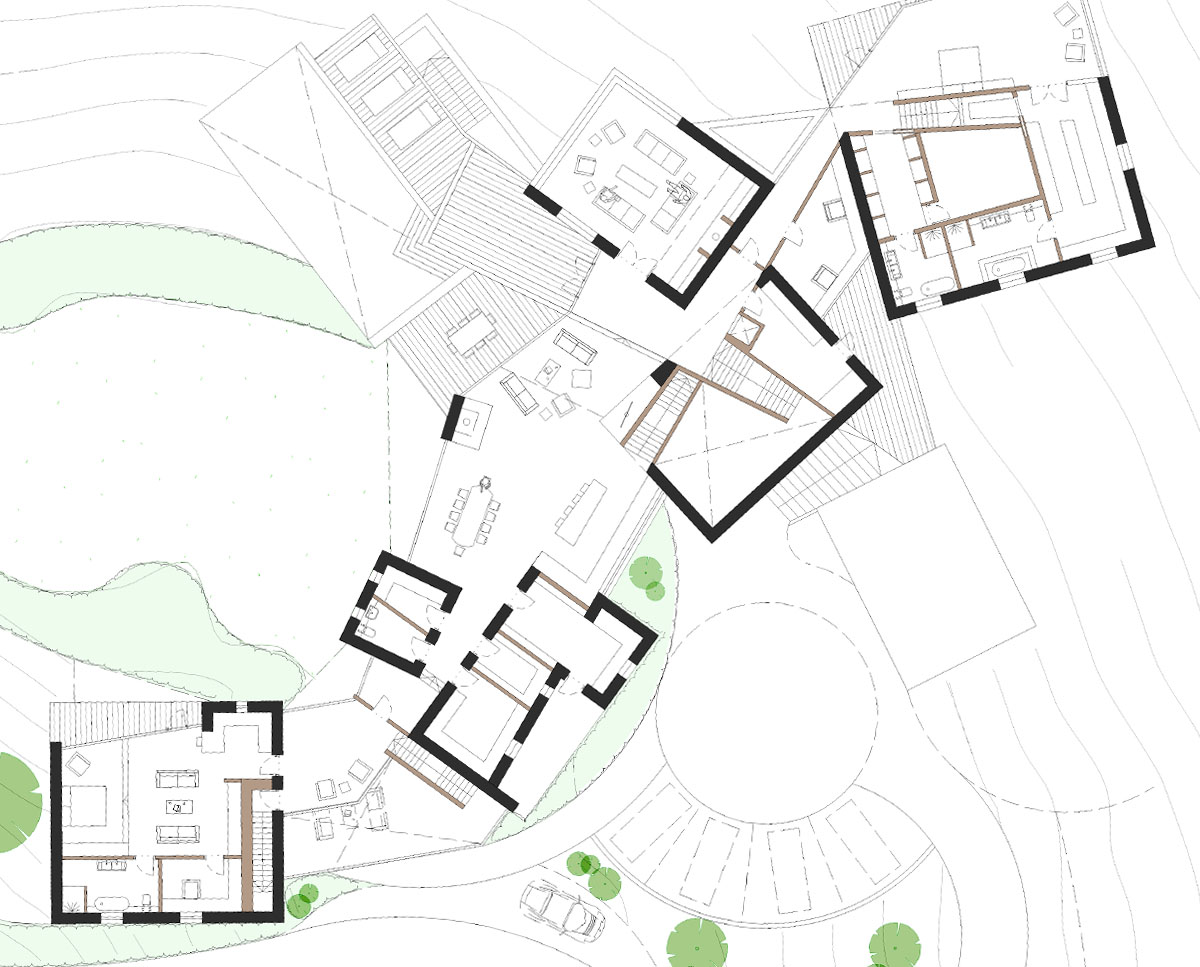 First floor plan of Chalk Pit (Para 79). Designed by Hawkes Architecture, this energy efficient grand design, follows passive house principles.