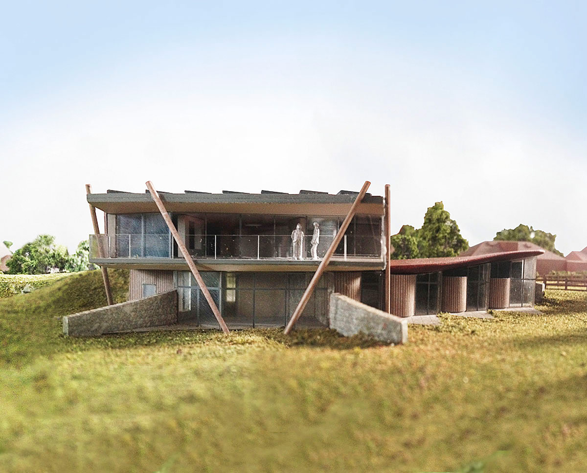 Model of Furrows (Para 55). Designed by Hawkes Architecture, this energy efficient grand design follows passive house principles.