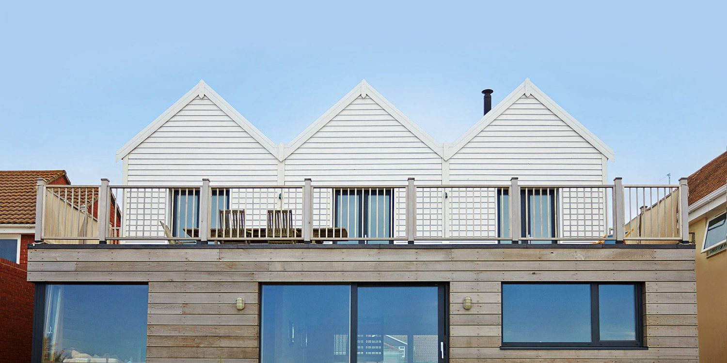 West Wittering. A replacement dwelling beach house. Designed by Hawkes Architecture.