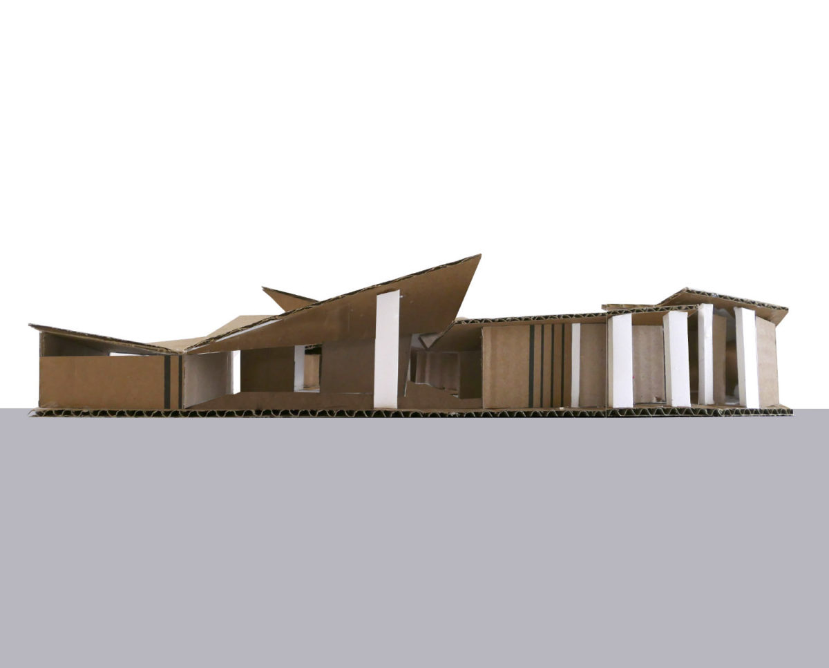 Model of House in the Woods. Designed by Hawkes Architecture who specialise in the design of Para 79 houses of exceptional quality and innovative nature of design.