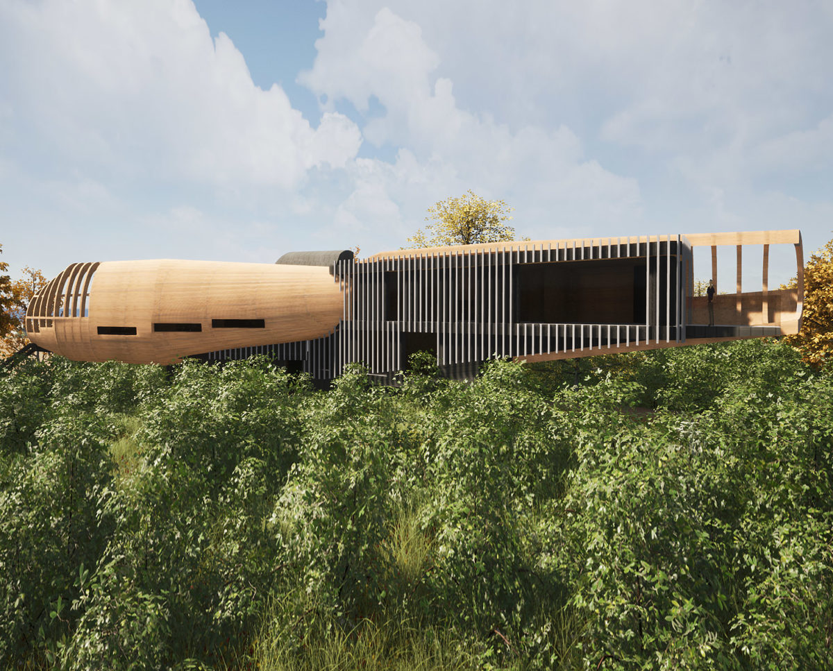 Mossie (Para 79). Designed by Hawkes Architecture, this energy efficient grand design, follows passive house principles.