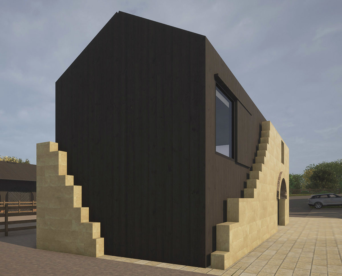 Exterior detail of North Yorkshire (Para 79). Designed by Hawkes Architecture, this energy efficient grand design, follows passive house principles.