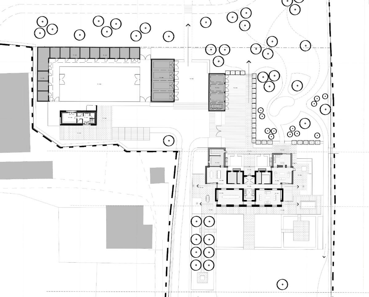 Ground floor plan of North Yorkshire (Para 79). Designed by Hawkes Architecture, this energy efficient grand design, follows passive house principles.
