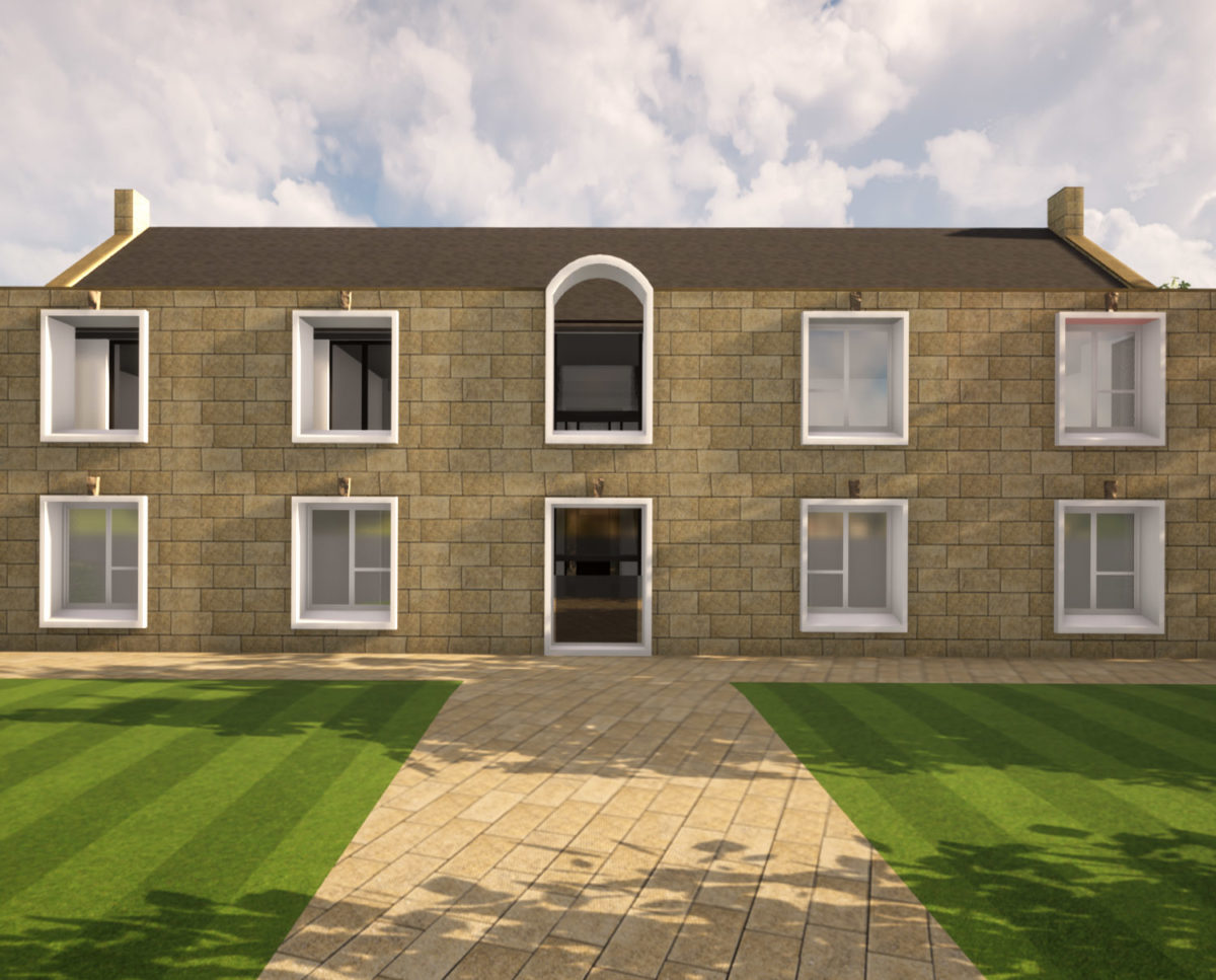 Main entrance of North Yorkshire (Para 79). Designed by Hawkes Architecture, this energy efficient grand design, follows passive house principles.