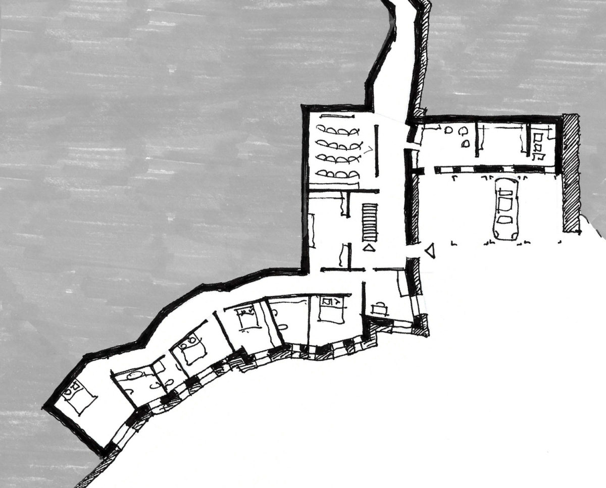 Plan of Tunwold (Para 79). Designed by Hawkes Architecture, this energy efficient grand design, follows passive house principles.