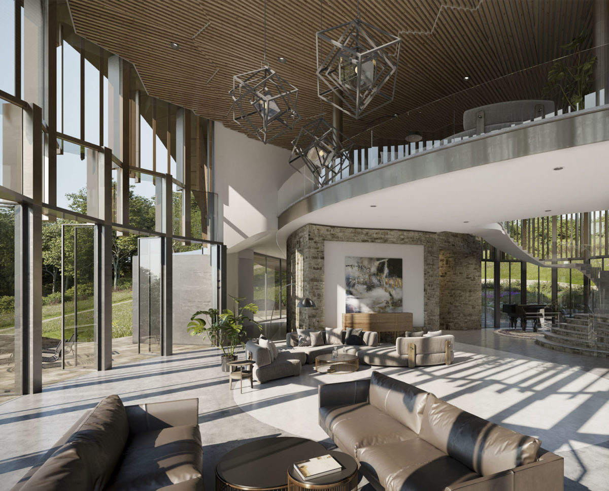 Mezzanine of Valley View (Para 79). Designed by Hawkes Architecture, this energy efficient grand design, follows passive house principles.