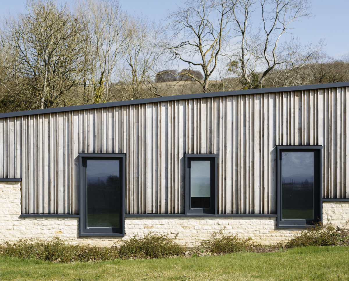 The bedroom wing at Headlands (Para 55). Designed by Hawkes Architecture, this energy efficient grand design, follows passive house principles.