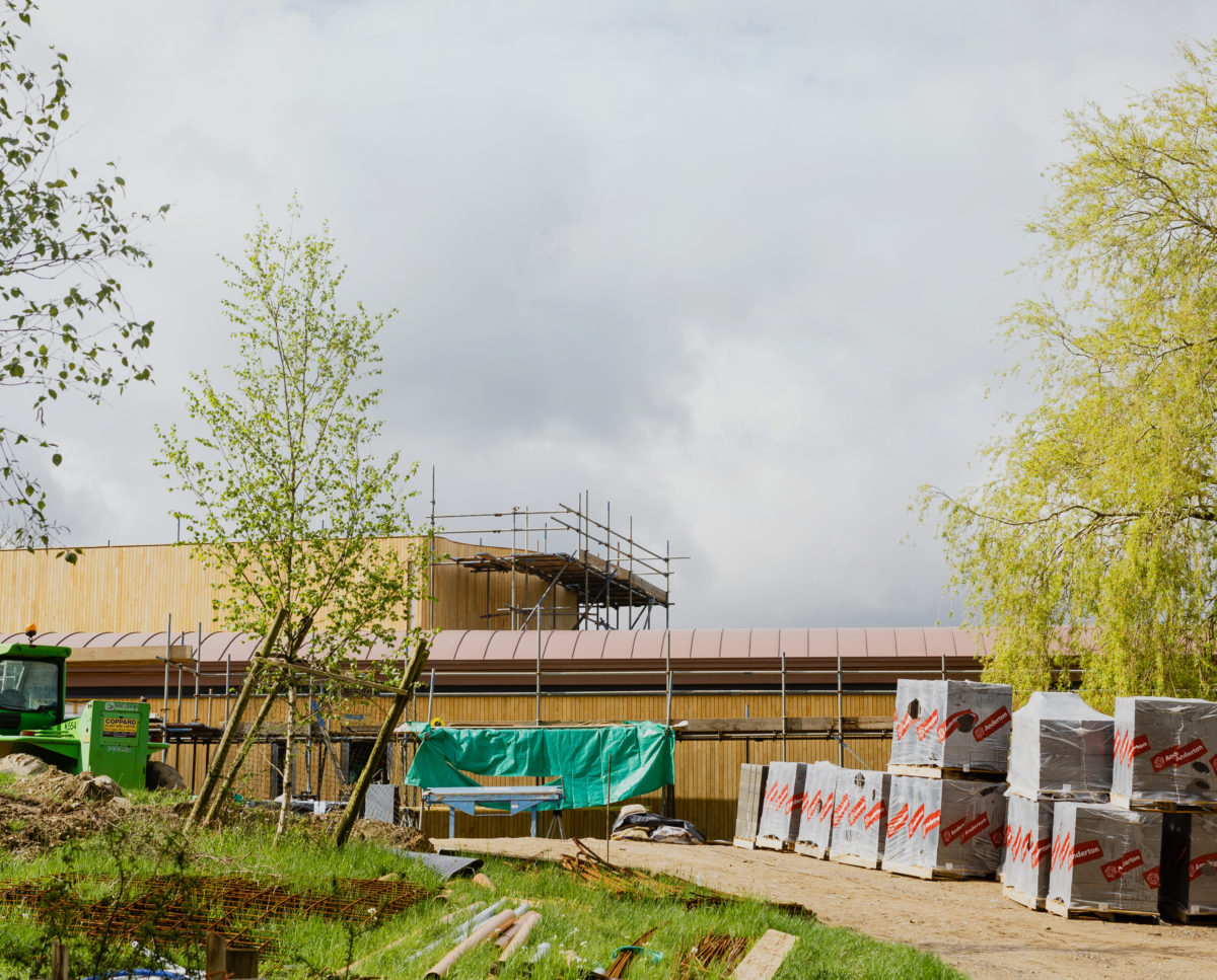 Construction progress at Lake House (Para 79). Designed by Hawkes Architecture, this energy efficient grand design, follows passive house principles.