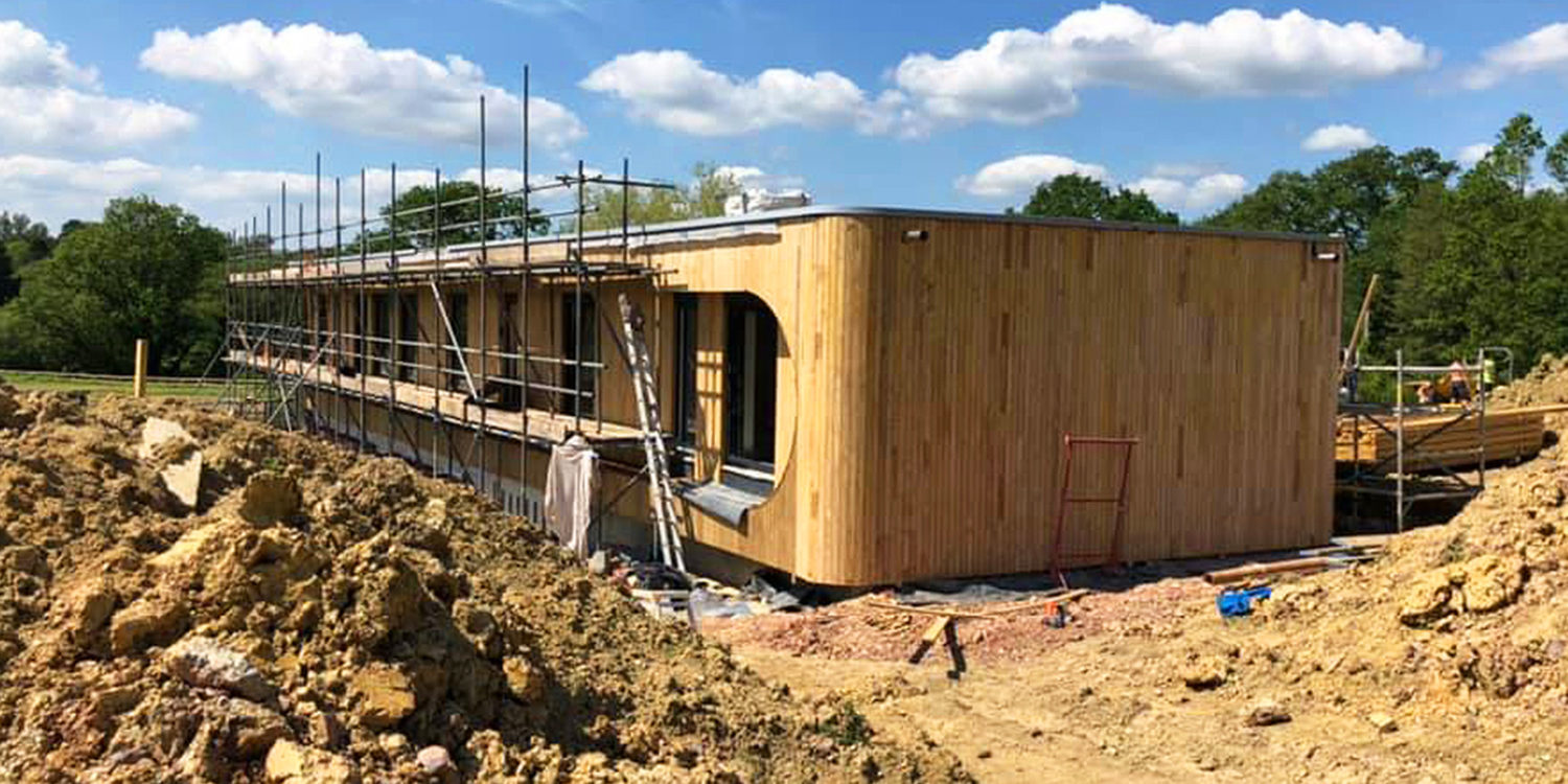 Construction continues at Lake house (Para 79). Designed by Hawkes Architecture, this energy efficient grand design, follows passive house principles.