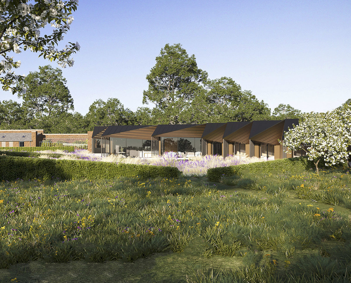 Rural Faversham (Para 80). Designed by Hawkes Architecture, this energy efficient grand design, follows passive house principles.