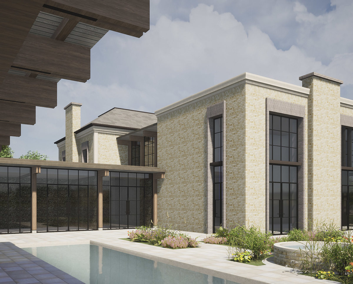 Side exterior of Winchester a New Build (Para 79). Designed by Hawkes Architecture, this energy efficient grand design, follows passive house principles.