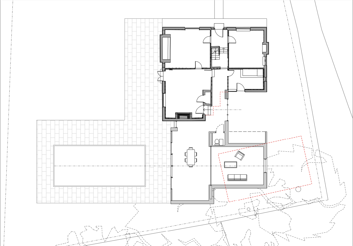 Plans of Brickhouse, a new extension and remodelling project by Hawkes Architecture