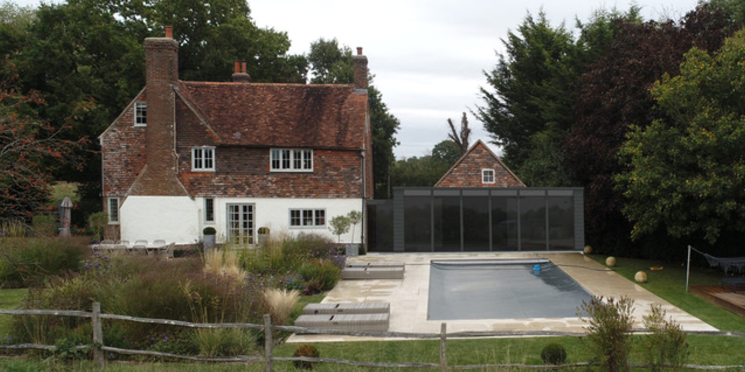 Exterior view of Brickhouse, a new extension and remodelling project by Hawkes Architecture