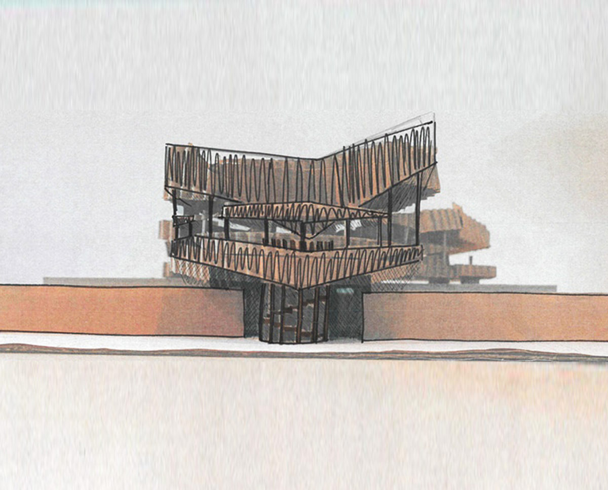 Abstract cardboard models of Hertford Gardens (Para 80). Designed by Hawkes Architecture, this energy efficient grand design, follows passive house principles.