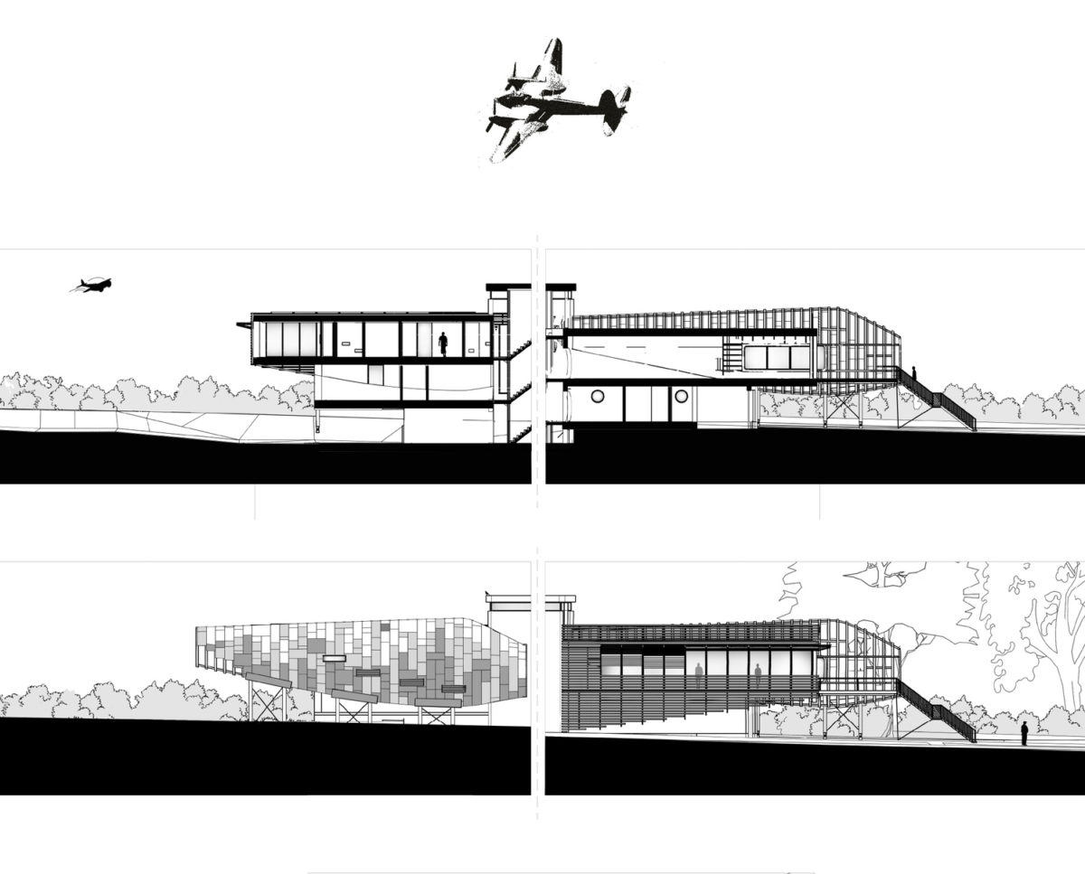 Mossie (Para 80). Designed by Hawkes Architecture, this energy efficient grand design, follows passive house principles.